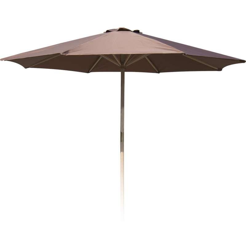 Sonnenschirm ø 300 cm rund Gartenschirm taupe Sonnenschutz Marktschirm