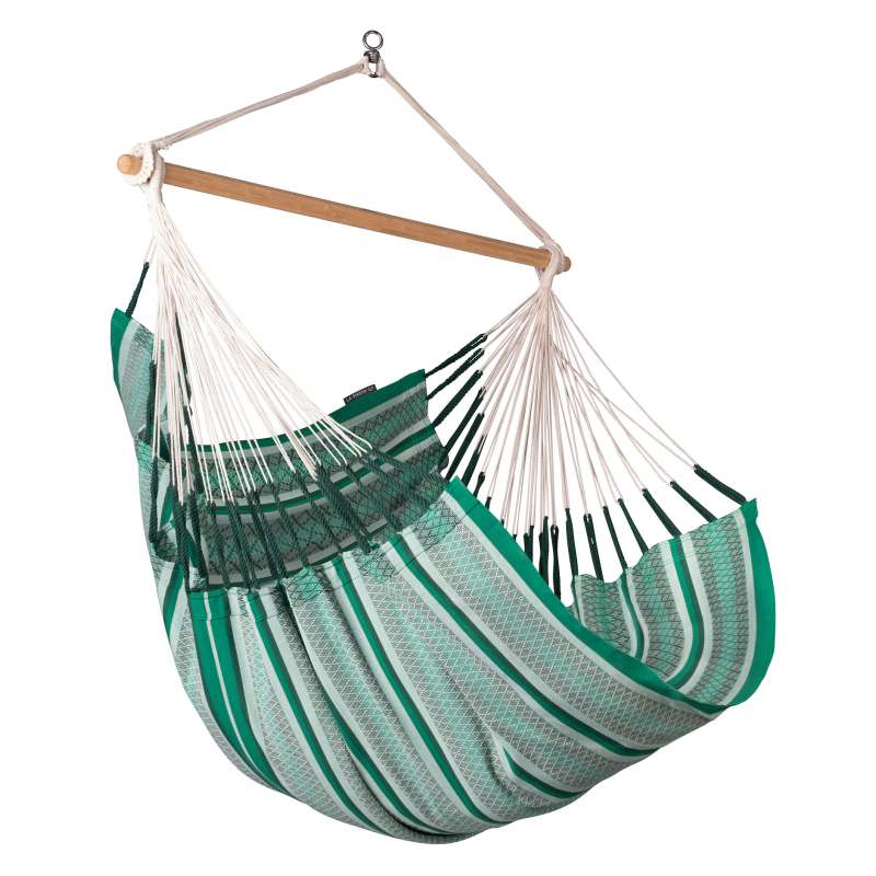 La Siesta Hängestuhl Bio-Baumwolle HABANA Comfort agave grün Lounger HAL18-X4