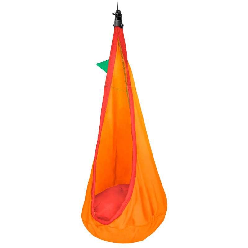 La Siesta Kinder-Hängehöhle foxy orange aus Bio-Baumwolle inkl. Befestigungsmaterial