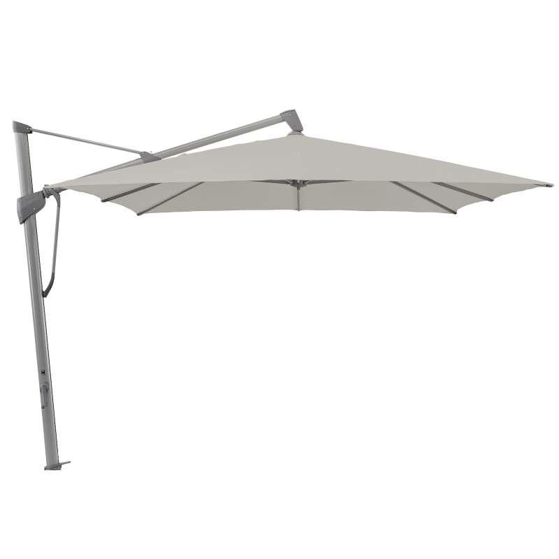 GLATZ Sonnenschirm SOMBRANO® S+ easy 350 x 350 cm Stoffklasse 2 Ash 151