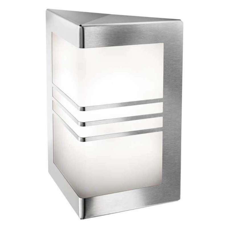 Heibi Wandleuchte MEDI Edelstahl/Acrylglas weiß 21,5x11x28 cm E27
