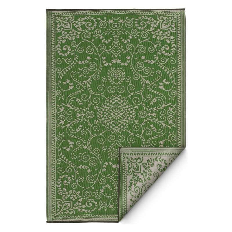 Fab Hab Outdoorteppich Murano Lime Green&Cream aus recyceltem Plastik grün/creme 180x270 cm