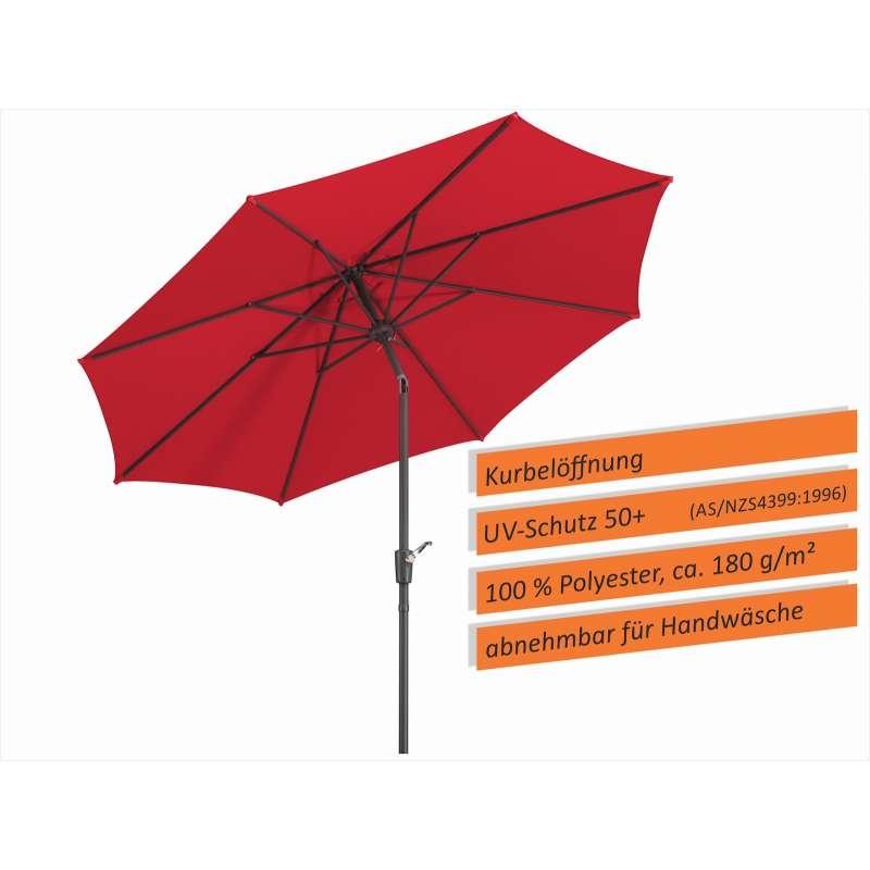 Schneider Schirme Harlem Mittelmastschirm ø 270 cm rot Sonnenschirm Balkon