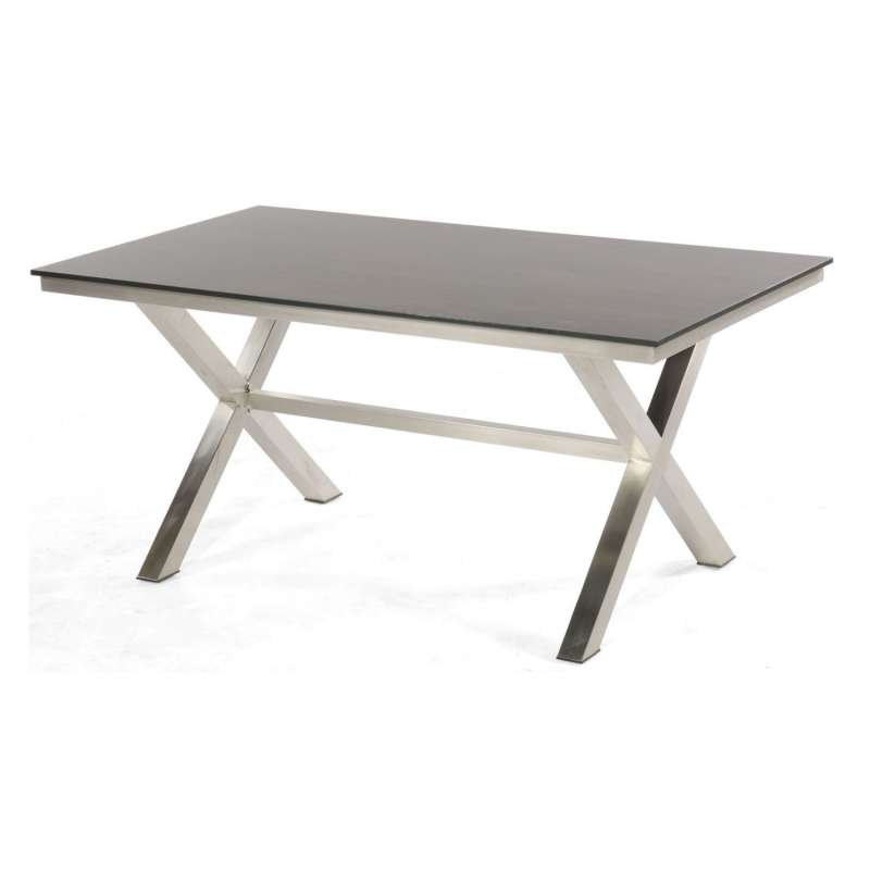 Sonnenpartner Gartentisch Base-Spectra 160x90 cm Edelstahl Tischsystem mit wählbarer Tischplatte HPL