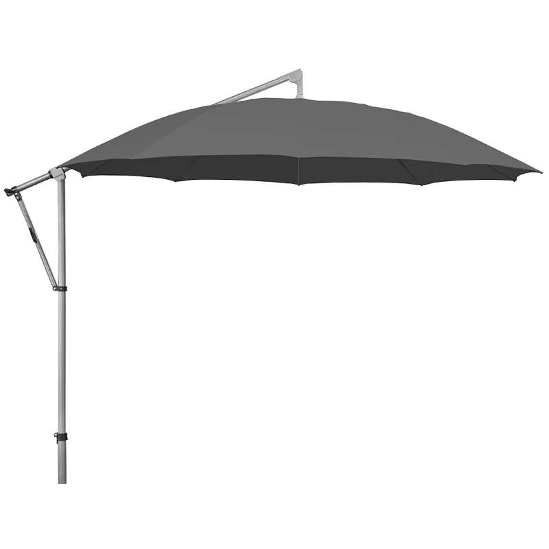GLATZ Sonnenschirm SUNCOMFORT® Pendolino ø 300 cm Stoffklasse 1 Stone grey 057