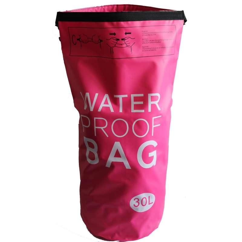 Drybag 30L Tasche 30 Liter wasserdicht Packsack pink Water proof Softcase Beutel