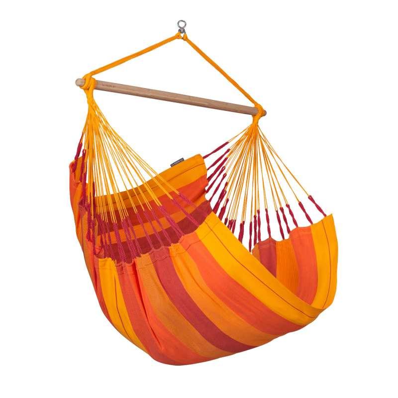 La Siesta Hängestuhl Bio-Baumwolle HABANA Comfort volcano orange Lounger HAL18-22 optional mit Geste