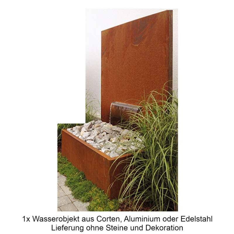 Mecondo Wasserobjekt PARAS DUO 135x180 cm Brunnen mit Auffangbecken 90 Liter