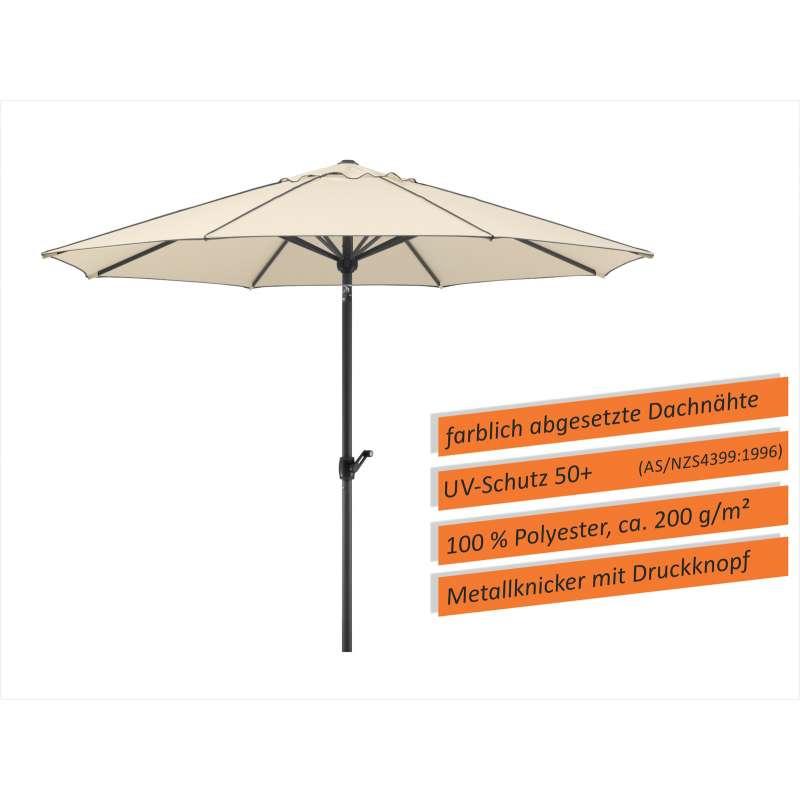 Schneider Schirme Adria Mittelmastschirm ø 300 oder ø 350 cm natur Sonnenschirm