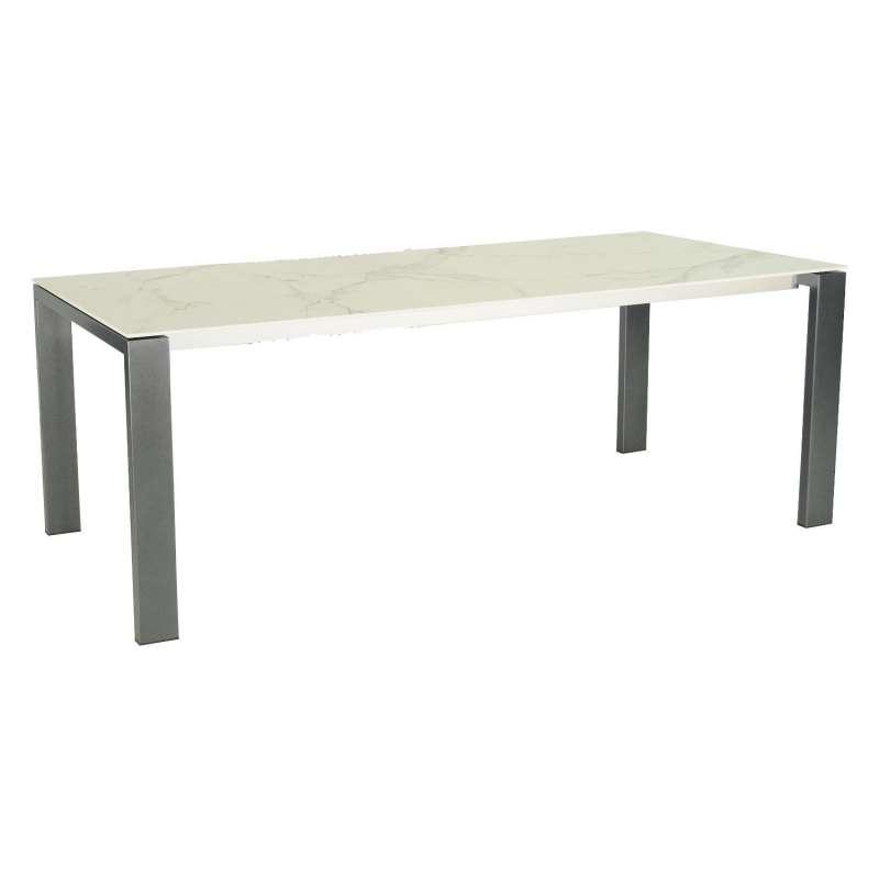 SIT Mobilia Gartentisch Olympia Oslo Edelstahl eisengrau/wählbare Tischplatte 300x95 cm Tisch Terras