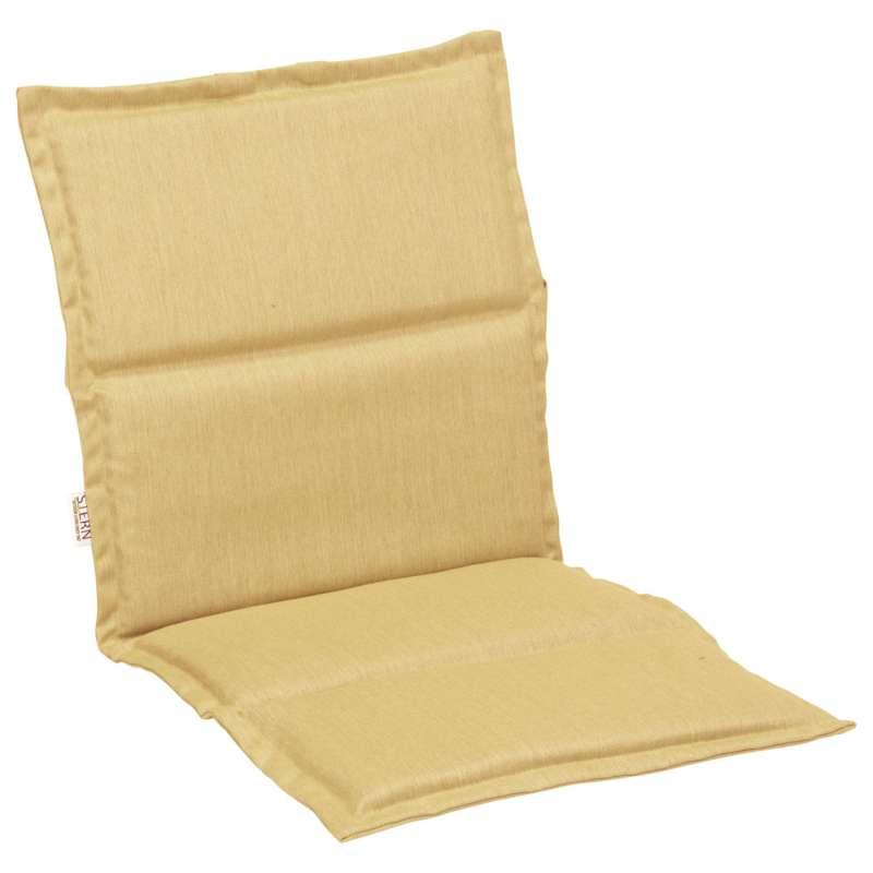 Stern Auflage für Stapelsessel Outdoorstoff gelb uni 93x46 cm Universalauflage Sitzkissen