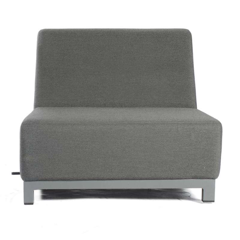 Sonnenpartner Lounge-Mittelmodul Solitaire Aluminium mit Kissen anthrazit Loungesessel Sunbrella