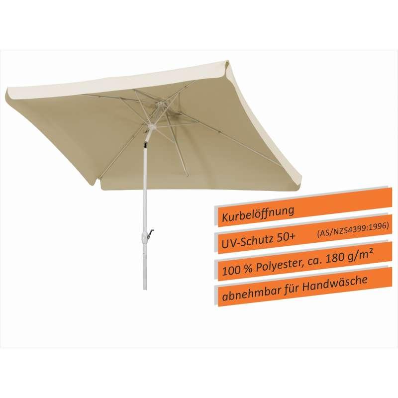 Schneider Schirme Oslo 300 x 200 cm Mittelmastschirm natur Balkonschirm Sonnenschirm