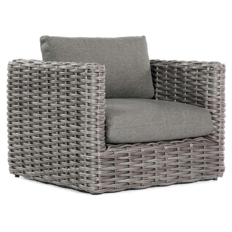Sonnenpartner Loungesessel Sands Aluminium mit Polyrattan charcoal Lounge-Sessel