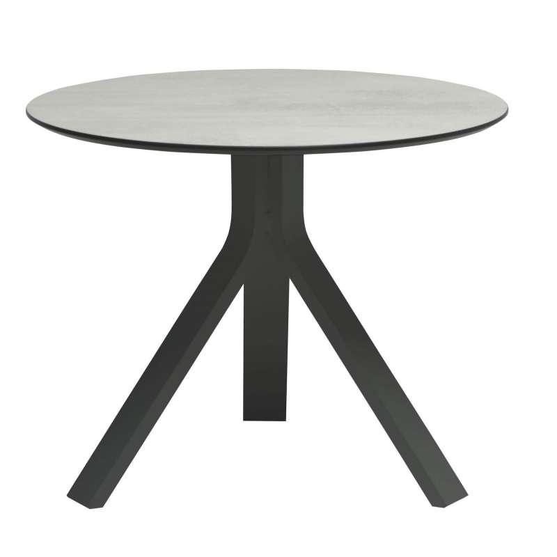 Stern Beistelltisch Freddie Ø 60 cm Aluminium anthrazit/Silverstar 2.0 Zement hell Tisch Gartentisch