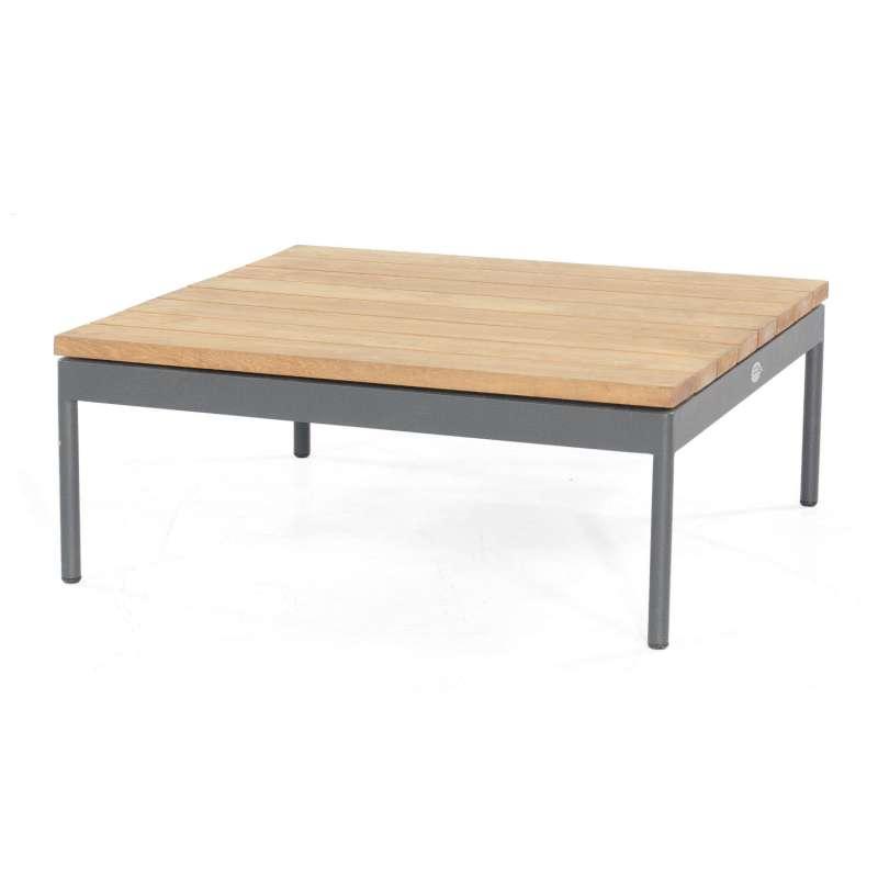 Sonnenpartner Lounge-Tisch Vogue Aluminium mit Teakholz Loungetisch