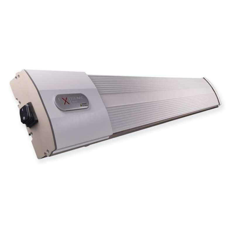 ExtremeLine HeatZone weiß Keramik Dunkelstrahler 1800 W mit ExRemote Steuerungssystem Heizstrahler