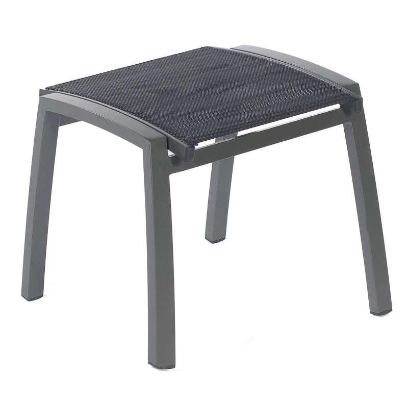 Sonnenpartner Fußhocker Florida Aluminium mit Textilen anthrazit Sitzhocker