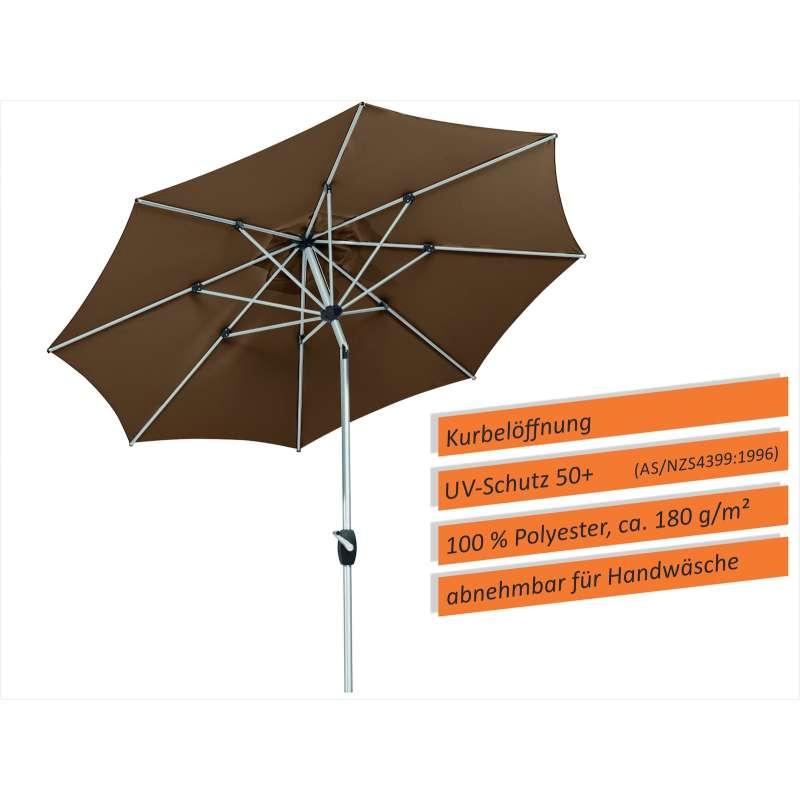 Schneider Schirme Venedig Mittelmastschirm ø 270 cm mocca Mittelstockschirm Balkon