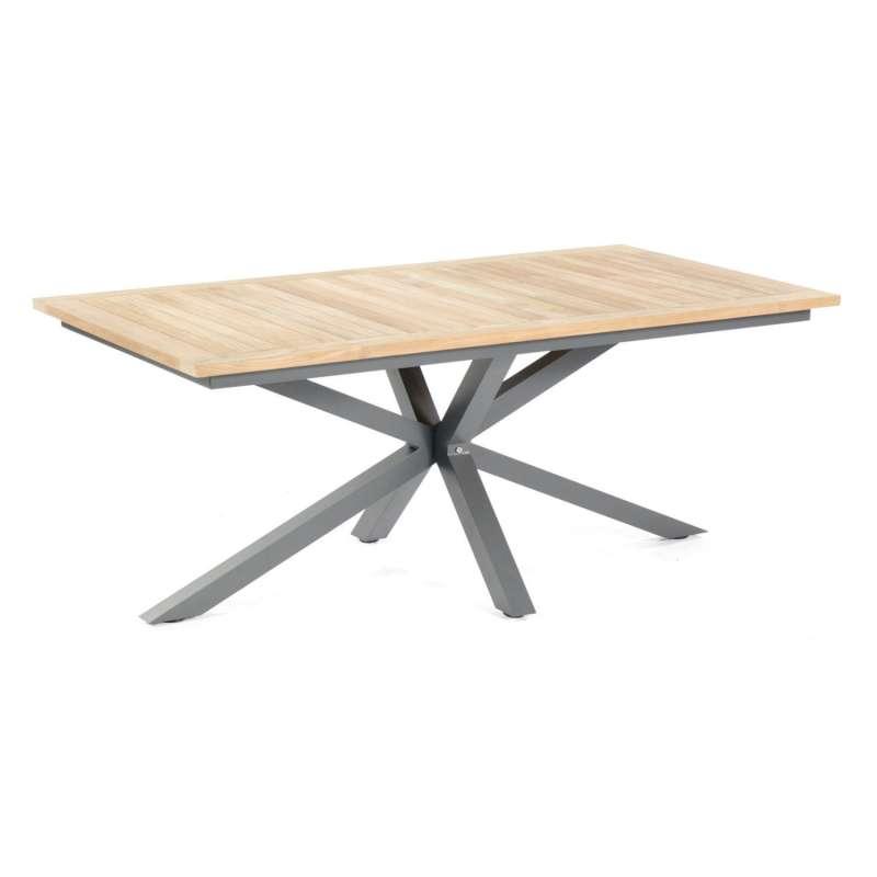 Sonnenpartner Gartentisch Base-Spectra diagonal 200x100 cm Aluminium anthrazit Tischsystem mit wählb