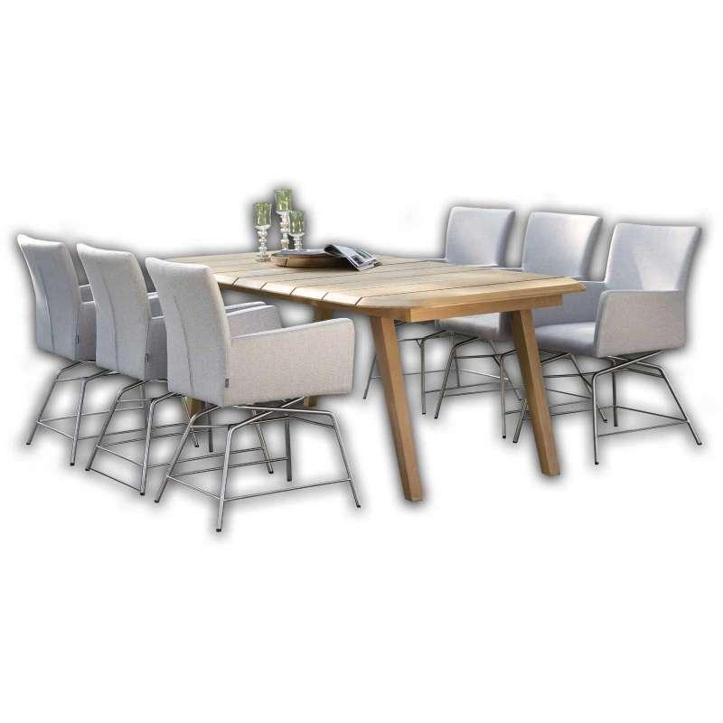 Stern Sitzgruppe Artus VIP Lounge SET Tischgruppe 7-teilig Sitzgarnitur Teaktisch
