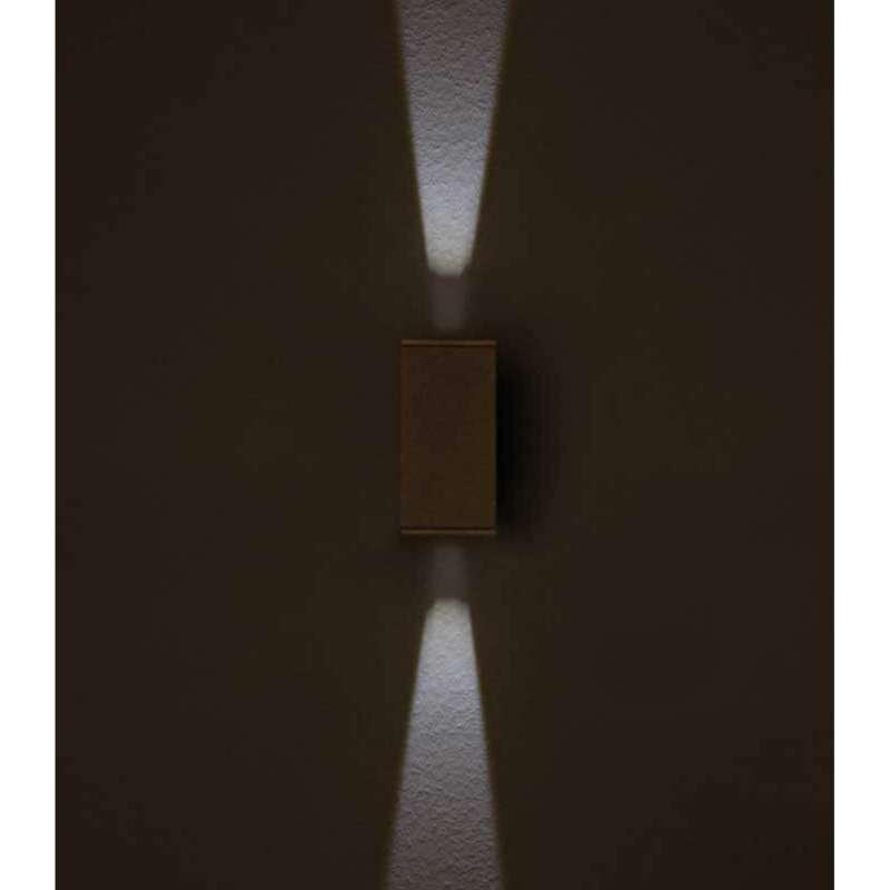 Heibi Wandleuchte NAIRA schmal Aluminium graphitgrau/Klarglas 8x12x16,5 cm LED