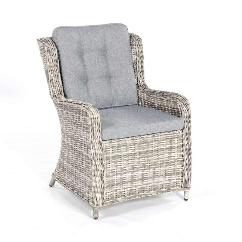 SunnySmart Garten-Sessel Lincoln Aluminium mit Kunststoffgeflecht vintage-taupe Gartenstuhl