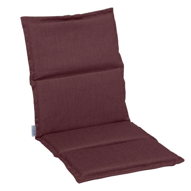 Stern Auflage für Klappsessel Outdoorstoff rot uni 123x50x3 cm Universalauflage Sitzkissen