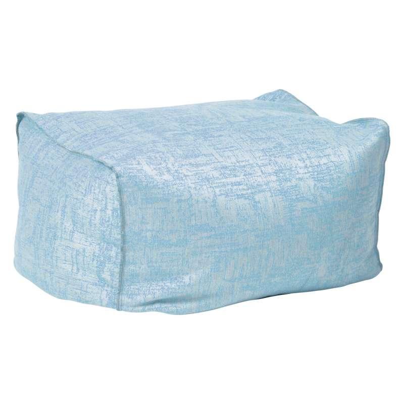 Stern Chillhocker Matti Outdoorstoff hellblau/seidengrau 50x70 cm Loungehocker Sitzsack Fußhocker