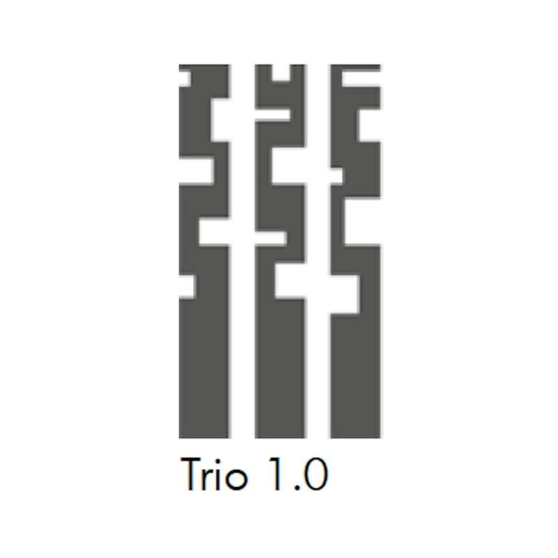 Mecondo 3er-Set OSAS TRIO 1.0 Stelen 150 cm Cortenstahl/Edelstahl/Stahl Gartendekoration