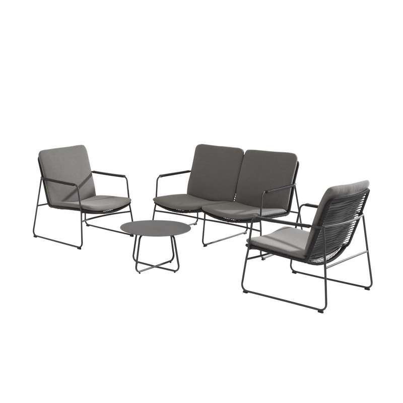 Aqua-Saar La Playa 4-teiliges Set Loungegruppe Komplettset Gartengarnitur Loungesofa