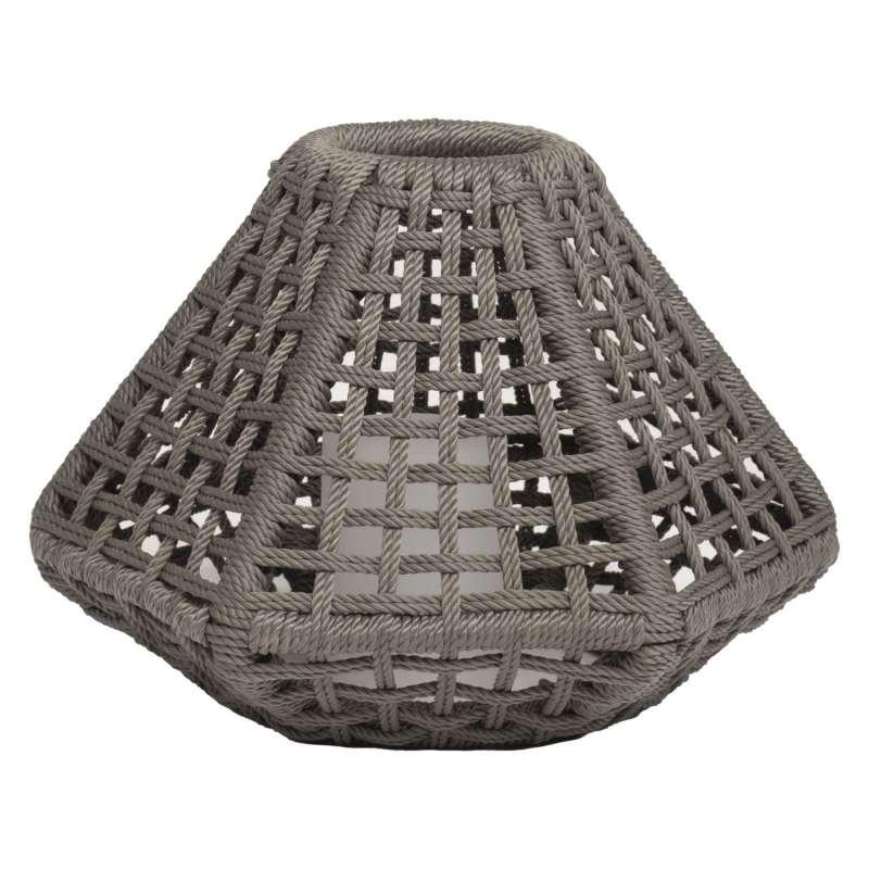 Stern Leuchte Greta anthrazit/Synthetikfaser platin 47x41x32 cm mit LED-Einsatz Lampe Windlicht
