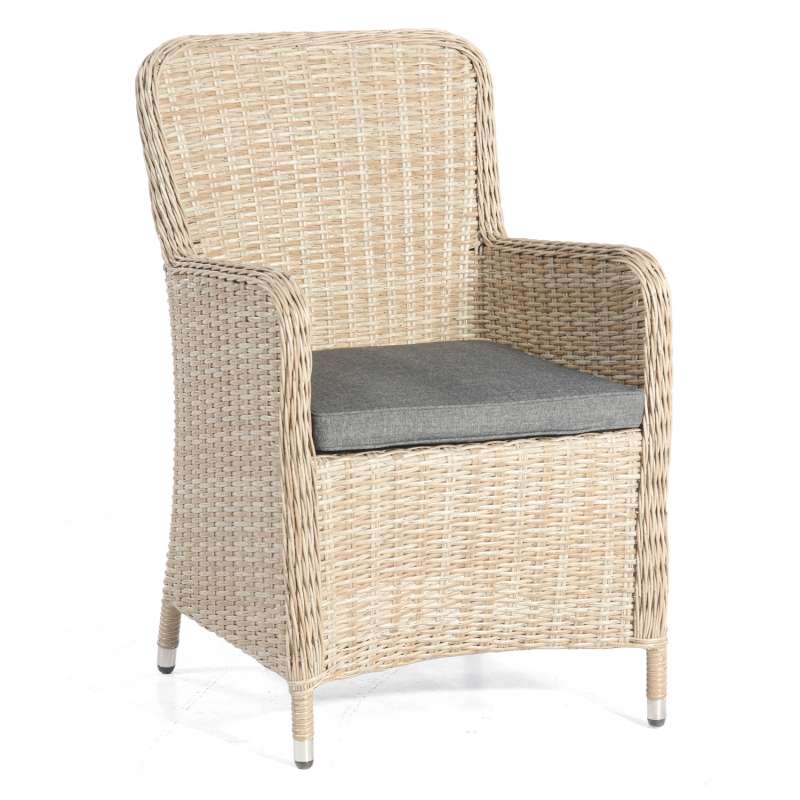SunnySmart Garten-Sessel Vigo II Aluminium mit Kunststoffgeflecht sandstone Gartenstuhl