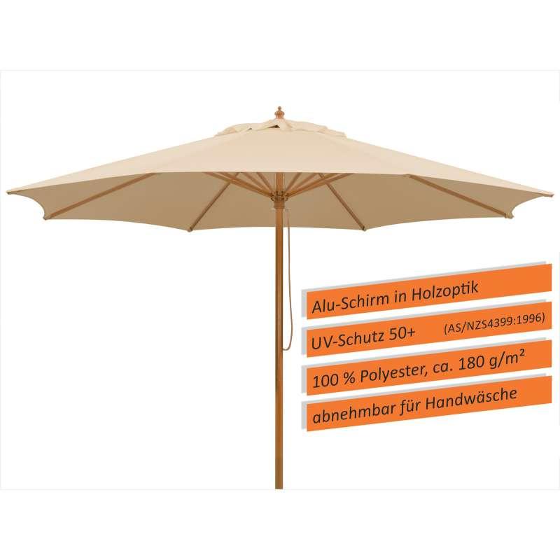 Schneider Schirme Malaga Mittelmastschirm 300 cm natur Sonnenschirm Gartenschimr