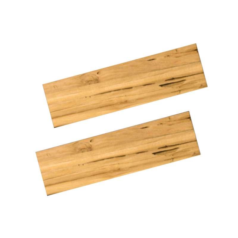 Happy Cocooning Mania 2 Seitentische für Feuertisch quadratisch/rechteckig 74x16,5x2 cm Teakholz Dri