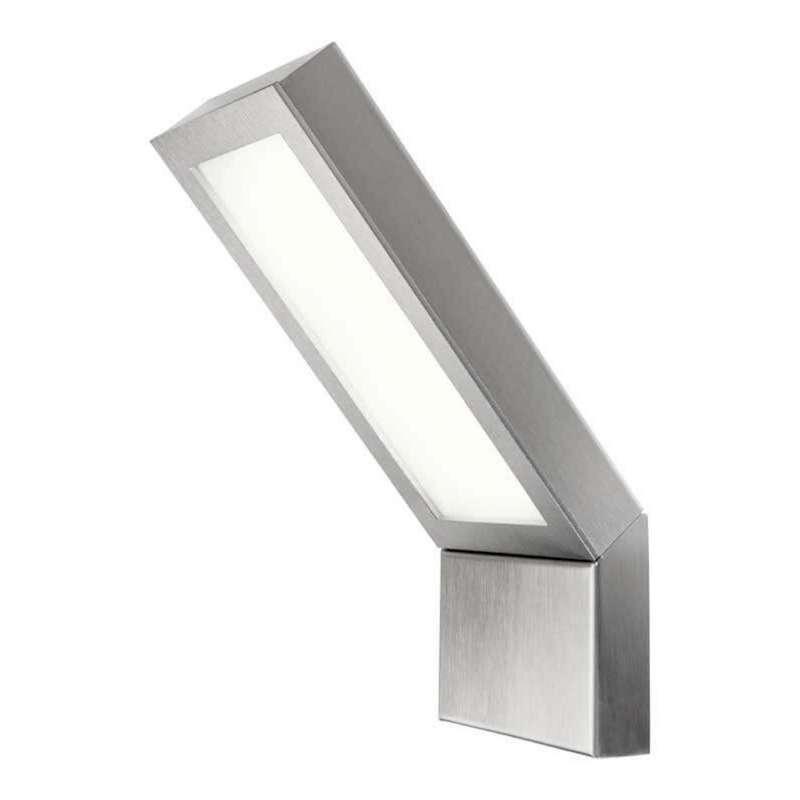 Heibi Wandleuchte EZZO Edelstahl/Opalglas 12,5x3x33 cm LED 4000 K Außenleuchte