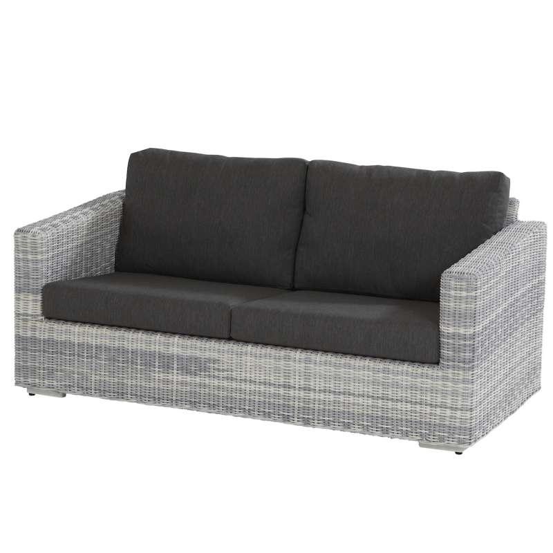 4Seasons Outdoor Edge living Sofa 2,5-Sitzer Polyrattan Ice inkl 4 Kissen
