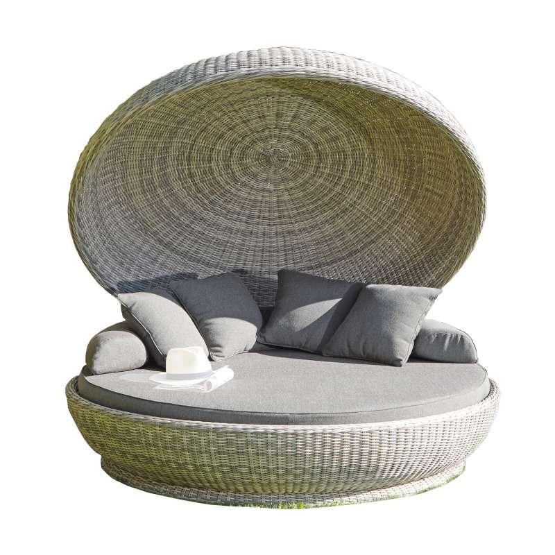 Sonnenpartner Lounge-Insel Oyster Aluminium mit Polyrattan white-coral Loungeinsel