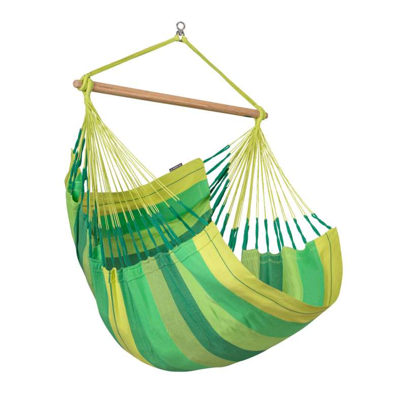 La Siesta Hängestuhl Bio-Baumwolle HABANA Comfort jungle grün Lounger HAL18-44 optional mit Gestell