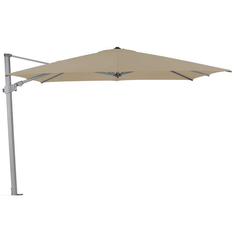 GLATZ Sonnenschirm SUNCOMFORT® Varioflex 300 x 300 cm Stoffklasse 1 Off Grey 053