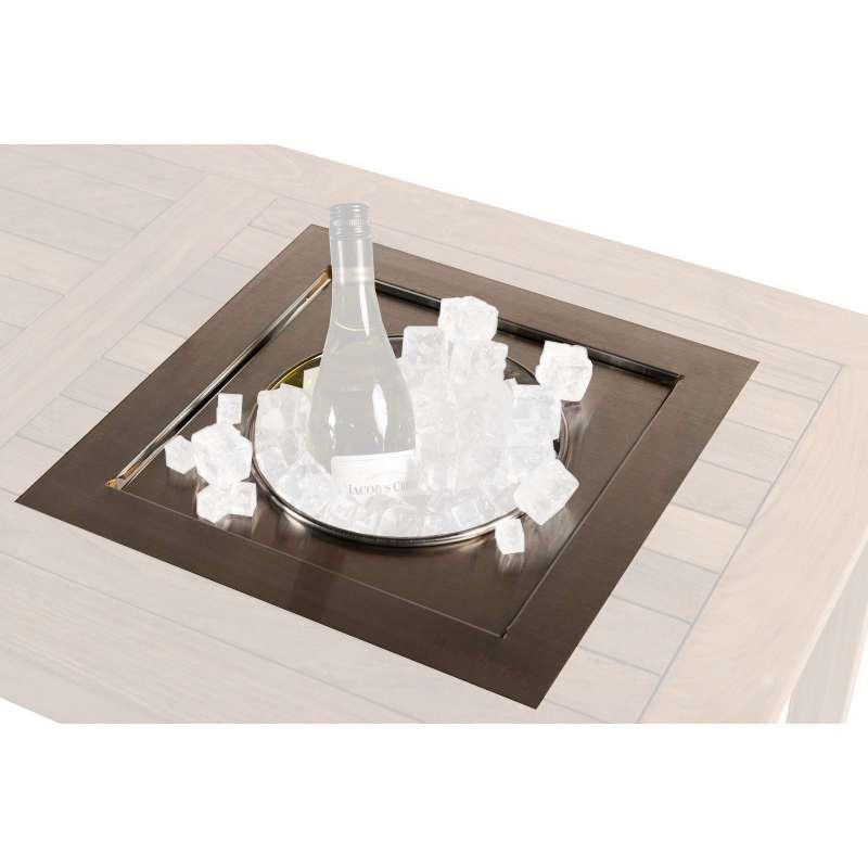 Happy Cocooning Mania Einbau-Weinkühler quadratisch 39x39 cm Sektkühler Wine Chiller Getränkekühler