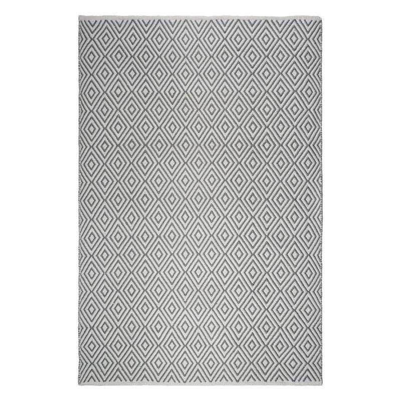 Fab Hab Outdoorteppich Veria Gray&White aus recycelten PET-Flaschen grau/weiß 60x90 cm