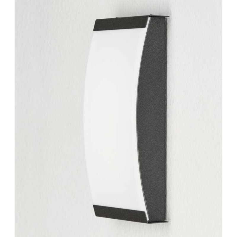Heibi Wandleuchte SELLIX Edelstahl graphitgrau/Acrylglas Opaloptik 14x6x29,5 cm LED Außenleuchte