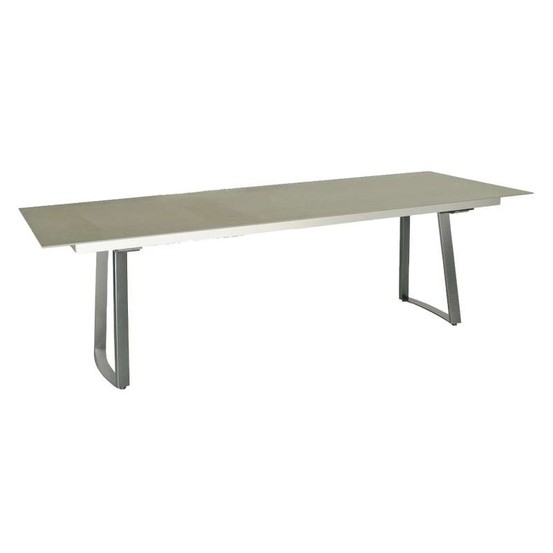 SIT Mobilia Gartentisch Olympia Tomba Edelstahl eisengrau/wählbare Tischplatte 240x95 cm Tisch Kufen
