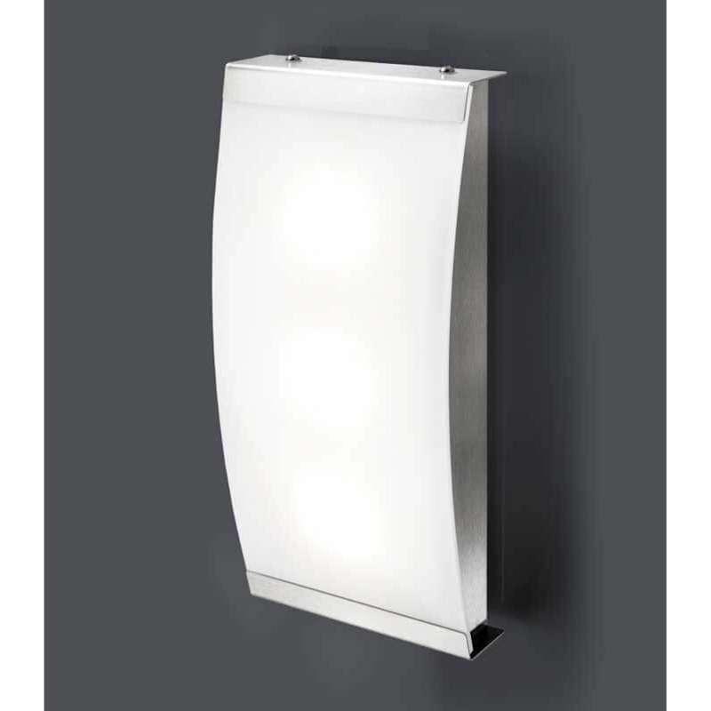 Heibi Wandleuchte SELLIX Edelstahl/Acrylglas Opaloptik 14x6x29,5 cm LED 4000 K Außenleuchte