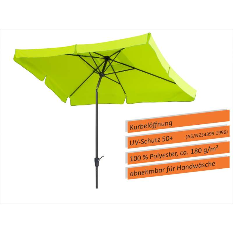 Schneider Schirme New York Sonnenschirm 270 x 150 cm Sonnenschutz apfelgrün Schirm
