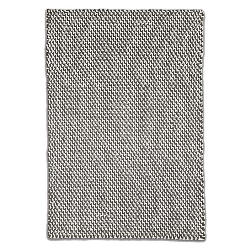 Fab Hab Outdoorteppich Asbury Charcoal&White aus recycelten PET-Flaschen anthrazit/weiß 150x240 cm