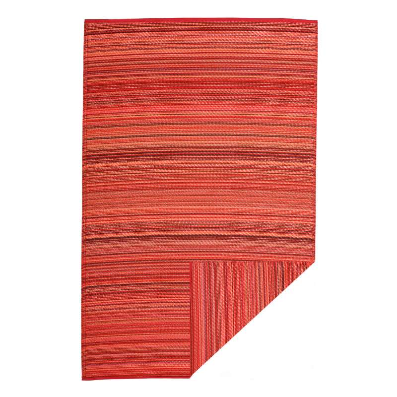 Fab Hab Outdoorteppich Cancun Sunset aus recyceltem Plastik rot/orange 90x150 cm