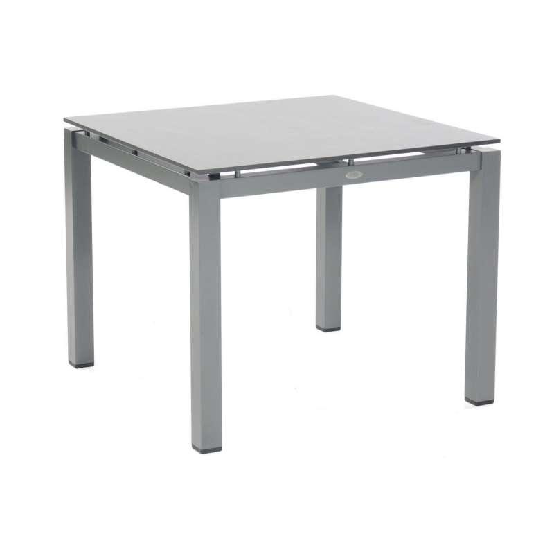 Sonnenpartner Gartentisch Base 90x90 cm Aluminium anthrazit Tischsystem mit wählbarer Tischplatte HP