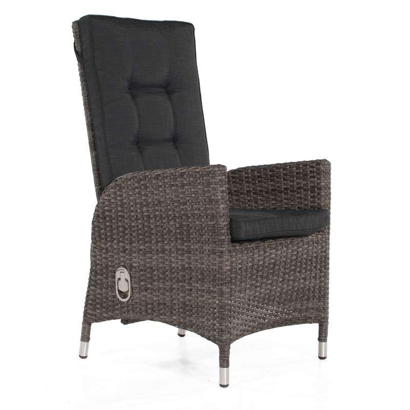 SunnySmart Dining-Sessel Para Aluminium/Kunststoffgeflecht vintage-grau Gartenstuhl